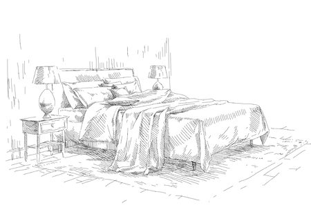 The drawing of an interior living room