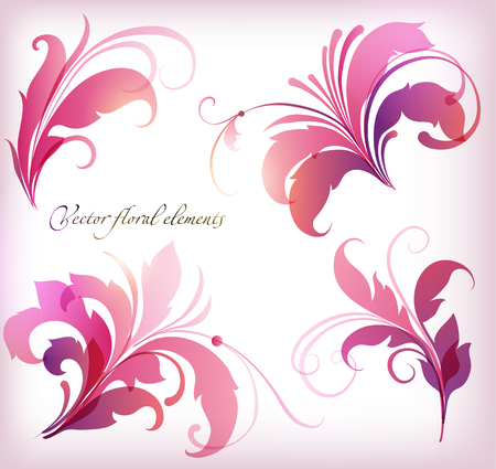 Beauty hand drawn illustration with flowers . Vector illustration.