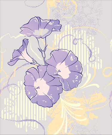 Beauty floral vintage seamless vector pattern . Vector illustration. Illustration