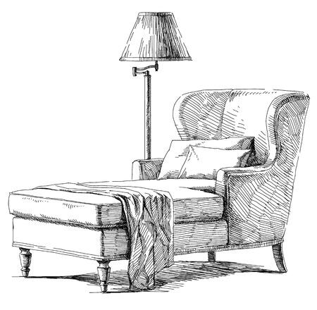 contemporary: Contemporary modern interior Illustration