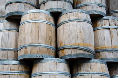 dutch typical: Typical dutch wooden oak barrel for fishery