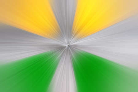 Abstract radial zoom blur surface in yellow, green and gray tones. Abstract background with radial, radiating, converging lines. 免版税图像
