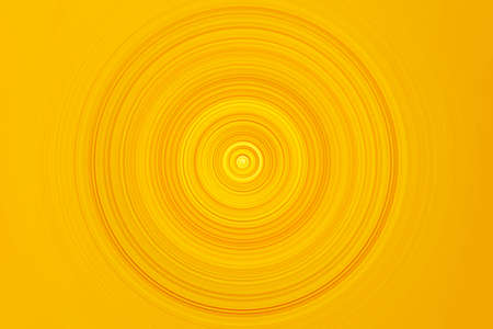 Abstract Radial Motion Blur in yellow tones. Circle template for label, fabric, clothing or brochure design. Background for modern graphic design and text.