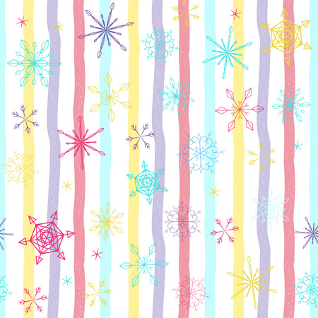 Print for fabric, textile and linen, web page background, gift and wrapping paper, greeting cards, scrapbooking album, collages, winter decorations. Иллюстрация