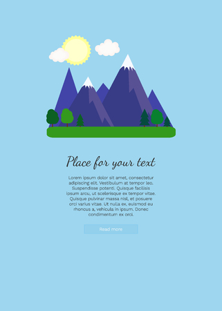 Template for brochure, web and advertising banner, poster, business concept, advertisement of travel agency.