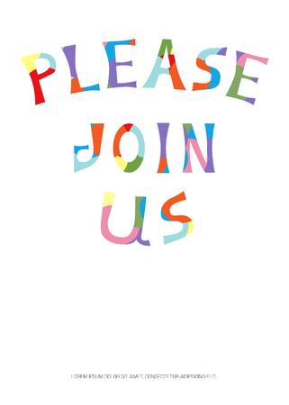 Illustration vectorielle de salutation. Logo, carte, centre commercial, bannière. EPS 10 Logo