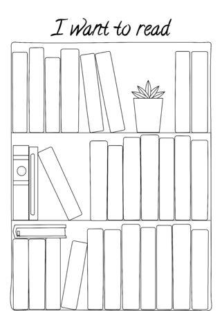 Planificateur minimaliste de lecture pour page de journal, suivi des habitudes, modèle de planificateur quotidien, vierge pour ordinateur portable. Feuille de papier A4. Vecteurs