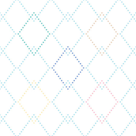 Vector seamless pattern with rhombuses in different colors on white background. For wallpapers, decoration, invitation, fabric, textile and print, web page background, gift and wrapping paper.