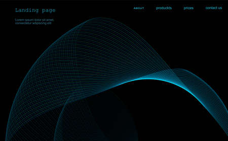 Abstract background for landing page, banner, cover. Space background with linear swirl.