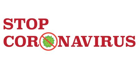 Stop coronavirus 2019-nC0V outbreak. Stop pandemic COVID-19 microbe. The virus attacks the respiratory tract, infections medical health risk. Travel Alert concept. Flat simple cartoon style