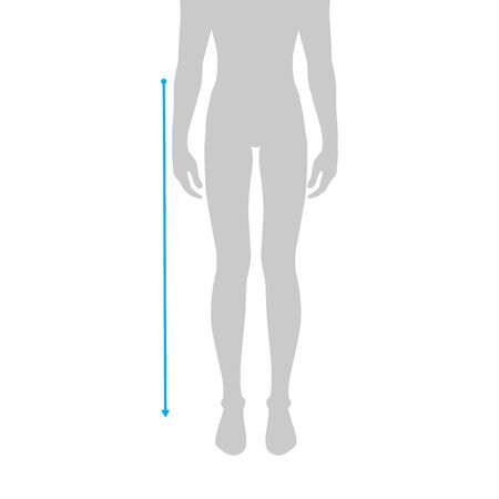 Men to do waist to floor measurement fashion Illustration for size chart. 7.5 head size boy for site or online shop. Human body infographic template for clothes. Vectores