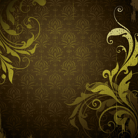 floral grunge: Retro grunge floral background with copy space.