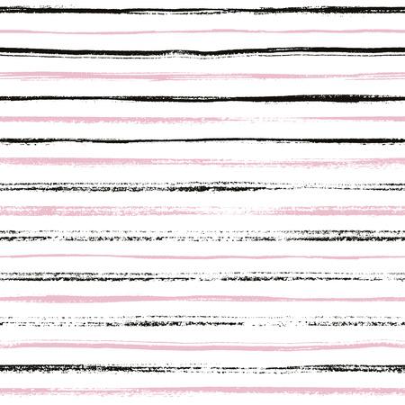 流行に敏感なストライプのシームレスなパターン。抽象的な手には、背景テクスチャが描画されます。スタイリッシュな落書き。現代のグラフィッ