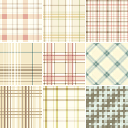 cotton fabric: Seamless Set Tartan. Good for wrapping paper and fabric design.