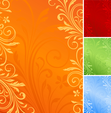 Vector floral background with copy space.