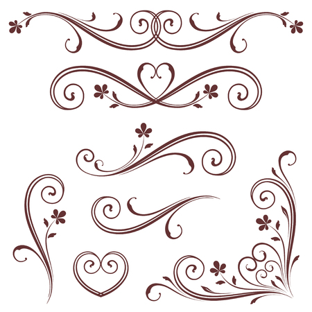 scroll design: Vectorized Scroll Design with Heart Design.