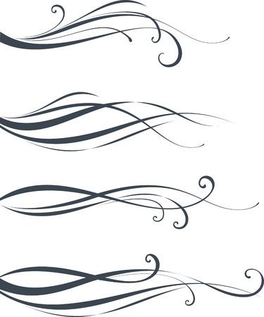 lineas decorativas: Diseño del desfile. Como bien en vertical. Los elementos se pueden desagrupar para facilitar la edición.