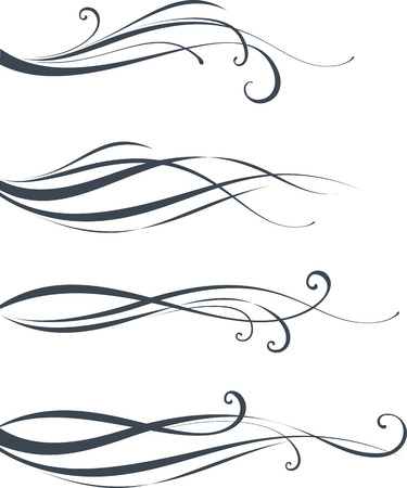 Scroll design. As well in vertical. Elements can be ungrouped for easy editing.