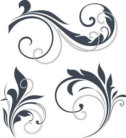 Vectorized Scroll Design. Elements can be ungrouped for easy editing. Ilustracja