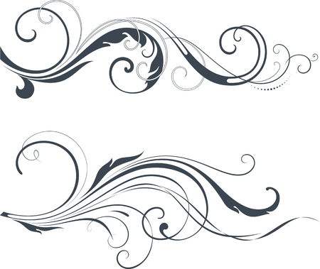 scroll design: Vectorized Scroll Design. Elements can be ungrouped for easy editing. Illustration