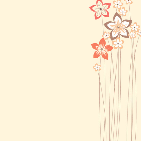 Floral design with copy space. Use for printed materials, invitations, greeting cards, covers, placards, posters, postcards and brochures Illustration