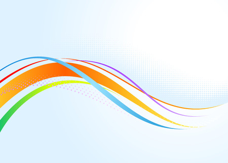 Abstract rainbow wavy background. Only gradients used.