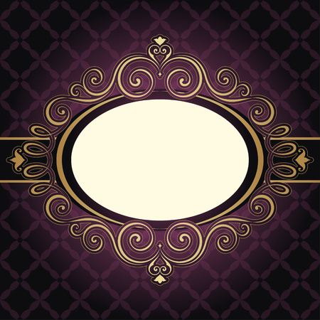 book cover design: Ornate vintage frame banner with seamless background.