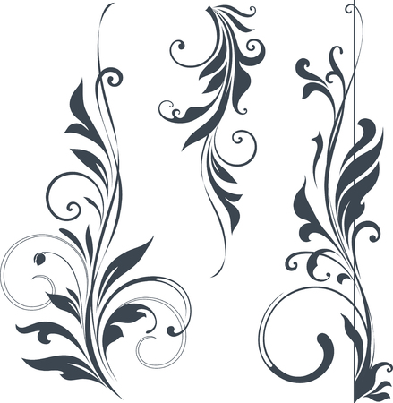 Vector swirl ornate motifs. Stock Vector - 60000964