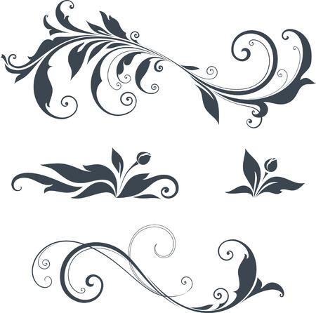 Vector remolino motivos ornamentales.
