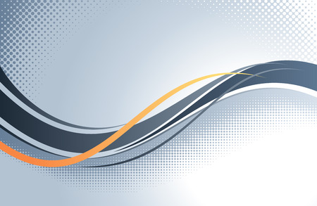 grey background: Abstract wavy vector background.