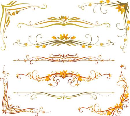 Diseño vectorizado de desplazamiento. Uso para las invitaciones de boda, certificados reales, tarjetas de felicitación, menús, programas, cubiertas, carteles, folletos y volantes.