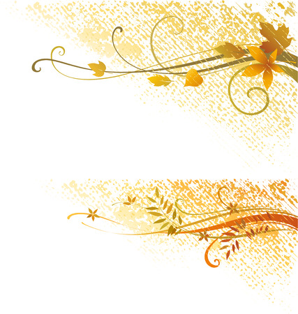 Autumn scroll design. As well in horizontal.