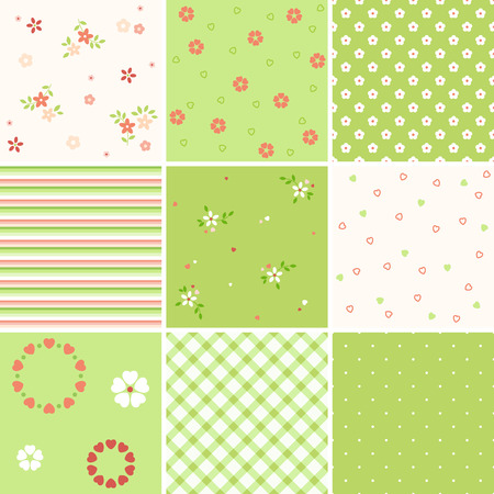 Vector seamless patterns. Can be used for wallpaper and textile design, pattern fills, website backgrounds, surface textures and book design. Illustration