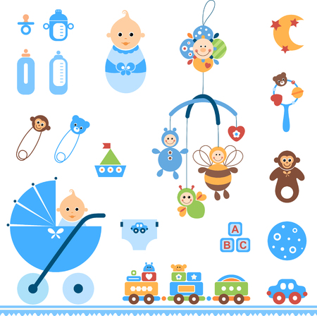 Beautiful set of newborn elements.