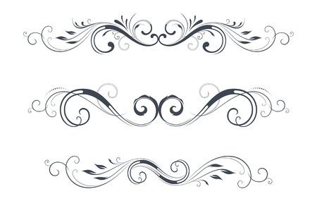 victorian christmas: Vector swirl ornate motifs.