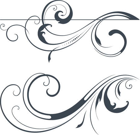 swirl: Vector swirl ornate motifs.