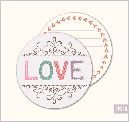 favor: Love wedding favor sticker.