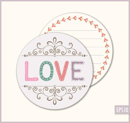 Love wedding favor sticker.