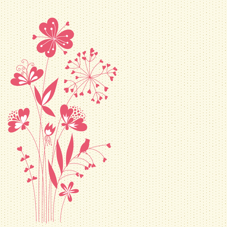 Floral card with seamless background. Imagens - 61104402