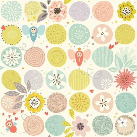 Baby Butterfly Seamless Pattern
