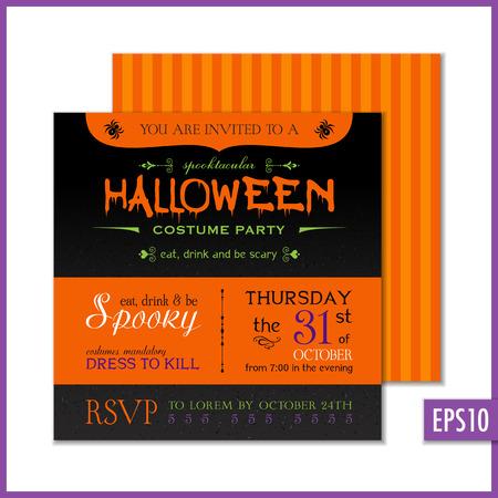 Halloween party invitation. Illustration