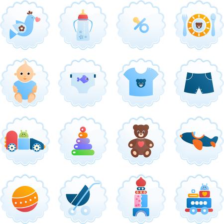 Newborn icon set.