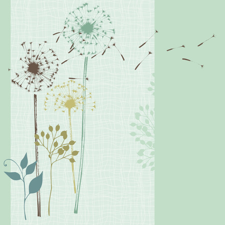 blossom background: Hand drawn floral card. Seamless.