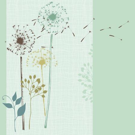 Hand drawn floral card. Seamless.