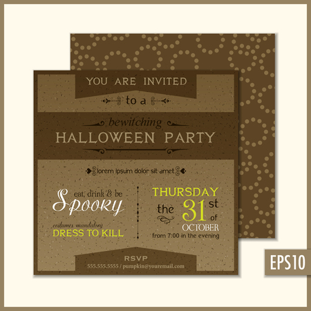 Holiday party invitations Vector illustration.