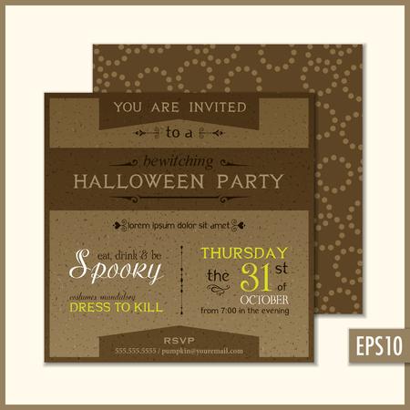 Holiday party invitations Vector illustration.