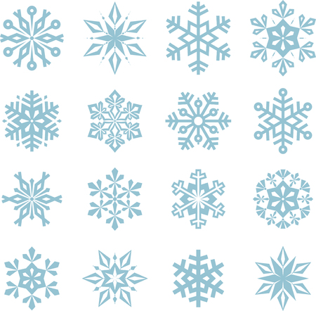 Vector Christmas Snowflakes.
