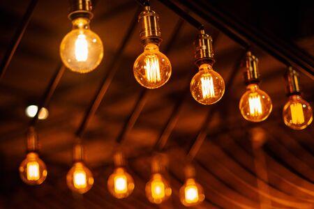 beautiful retro edison light lamp decor, light lamp electricity hanging decorate  interior