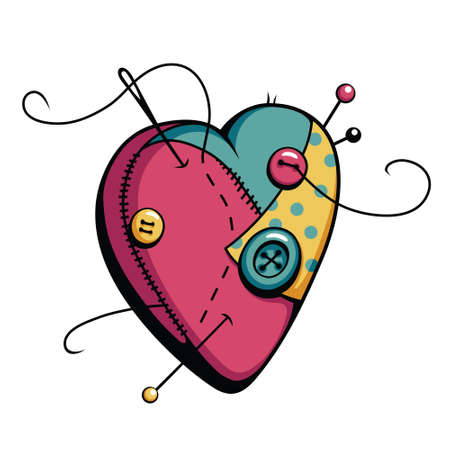 Cartoon heart vector illustration