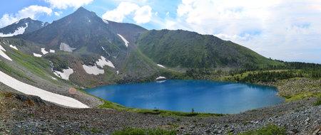 mountain lake Ivanovsky ridge, Ridder, Kazakhstan